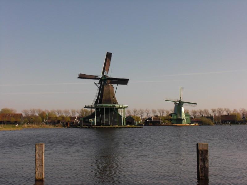 Holanda Molino canal - Holanda en un pispás, vive la ciudad de los tulipanes