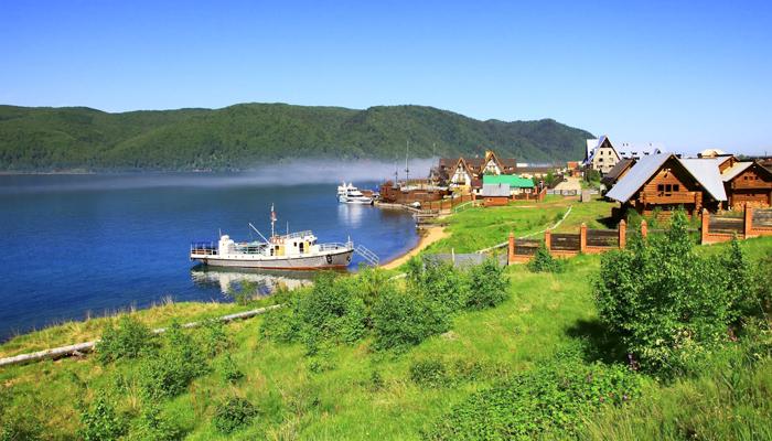 lago baikal casas 1 - Lago Baikal, cristal de Siberia