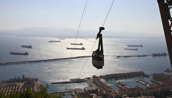 teleferico gibraltar 1 - Gibraltar, la famosa Roca del Estrecho