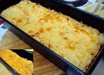 pastel de patata con pollo y berenjenas 1 - Pastel de patata, pollo y berenjena