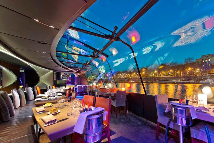 Bateaux Mouches. Comer en Paris. Open - Comer bien en París sin pisar un restaurante