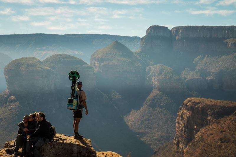 Capturadores de imagen Google Street View Sudáfrica - Google Street View: la nueva forma de conocer los Parques Nacionales de Sudáfrica