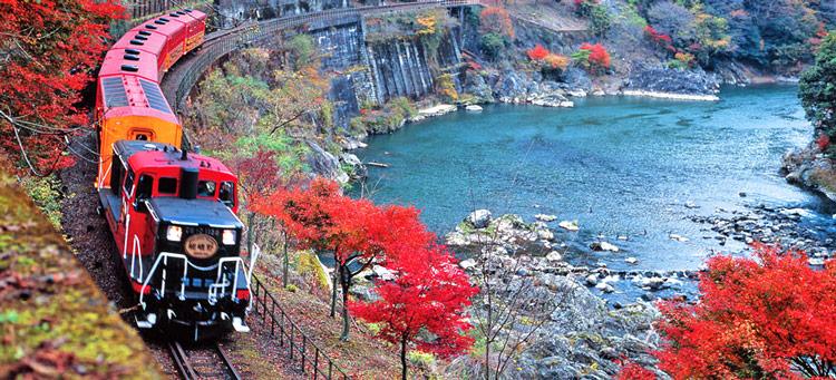 Tren Sagano Japon - 8 consejos para volar con presupuestos ajustados