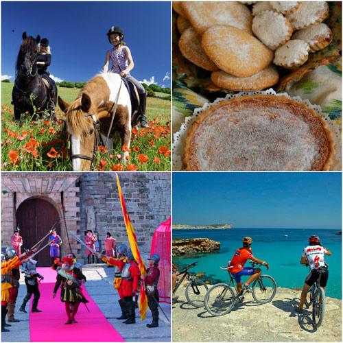 Collage fiestas Islas Baleares - Primavera de color, aire libre y tradición popular en las Islas Baleares