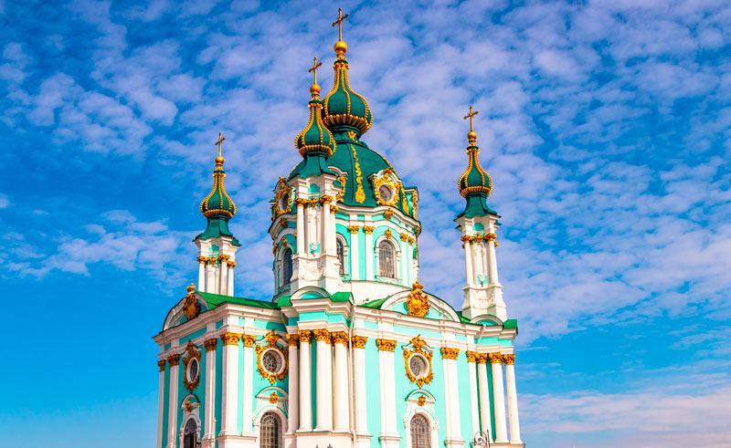Avenida Andreevsky Spusk Iglesia de San Andres 2 Kiev Ucrania - Qué ver en Kiev, antes o después del triunfo del Real Madrid