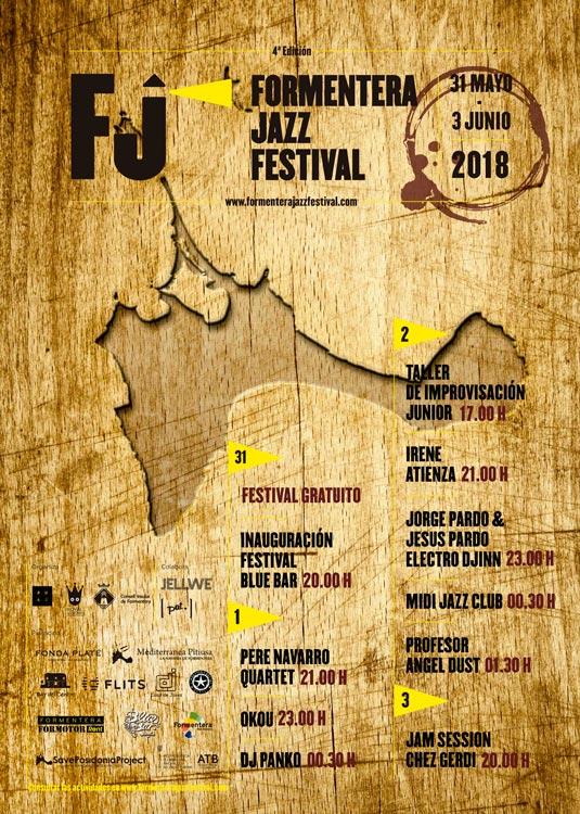 Formentera Jazz Festival Cartel 2018 - El jazz inunda Formentera