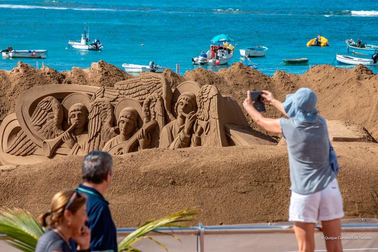 Belen de arena 2 Palmas de Gran Canaria Islas Canarias - Las Palmas de Gran Canaria recibe la Navidad 2018 en la playa con su monumental Belén de Arena