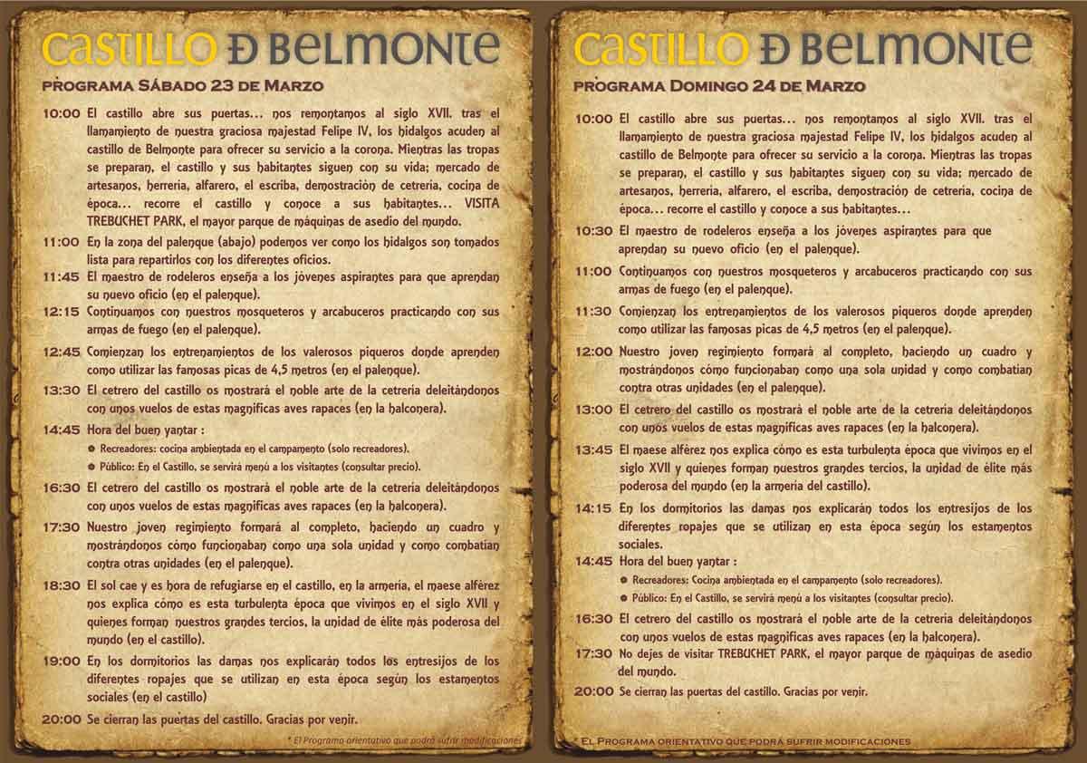 """Programa Tercios Belmonte 2019 - Asiste a la recreación histórica los """"Tercios de España"""" en Belmonte"""