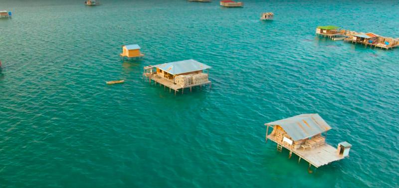 Cayo Miskitos Nicaragua mar casas - Los enclaves naturales más impresionantes de Centroamérica