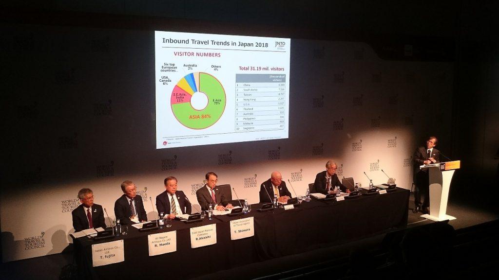 Oficina Nacional de Turismo de Japón WTTC Sevilla 2019 1  1024x576 - Japón, destino mejor preparado para situaciones de crisis en los premios de la 19º Cumbre Mundial WTTC de Sevilla