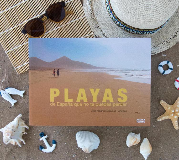 """Playas de España libro Anaya Touring - Libros para el viajero: """"Playas de España que no te puedes perder""""."""