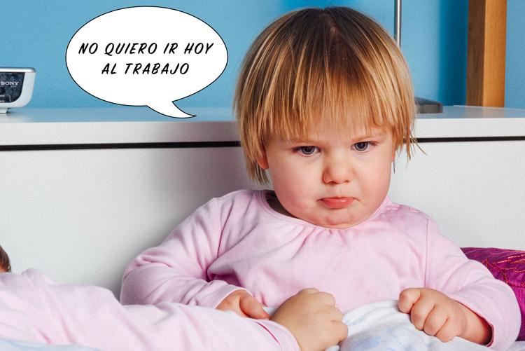 Cambio de Hora niño viñeta meme enfadado bebe - ¿De verdad nuestra salud se ve afectada por el cambio horario?