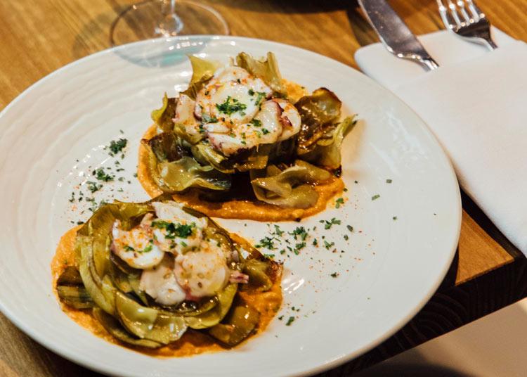 Flor de alcachofa Pathio restaurante platos - Abre Pathio, el gastrobar de cocina mediterránea con guiños internacionales