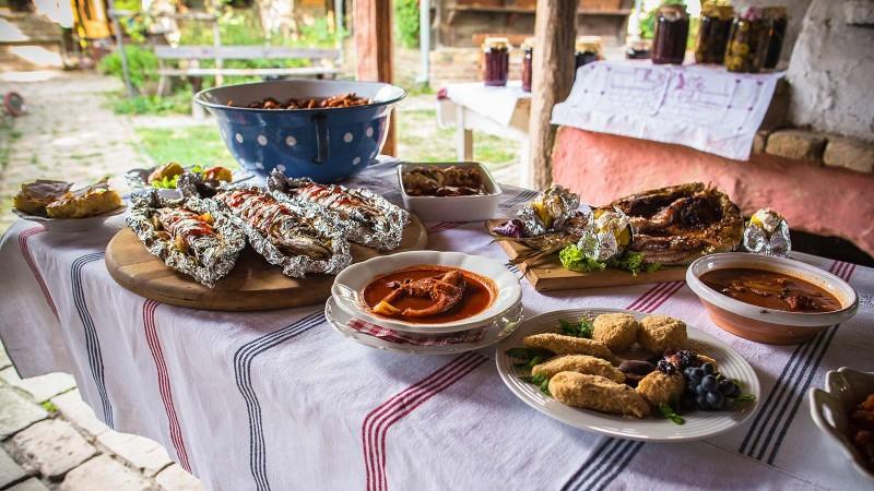 Gastronomia Etno pueblo en Karanac Croacia. © Ivo Biocina - Pueblos Etno, el corazón de Croacia