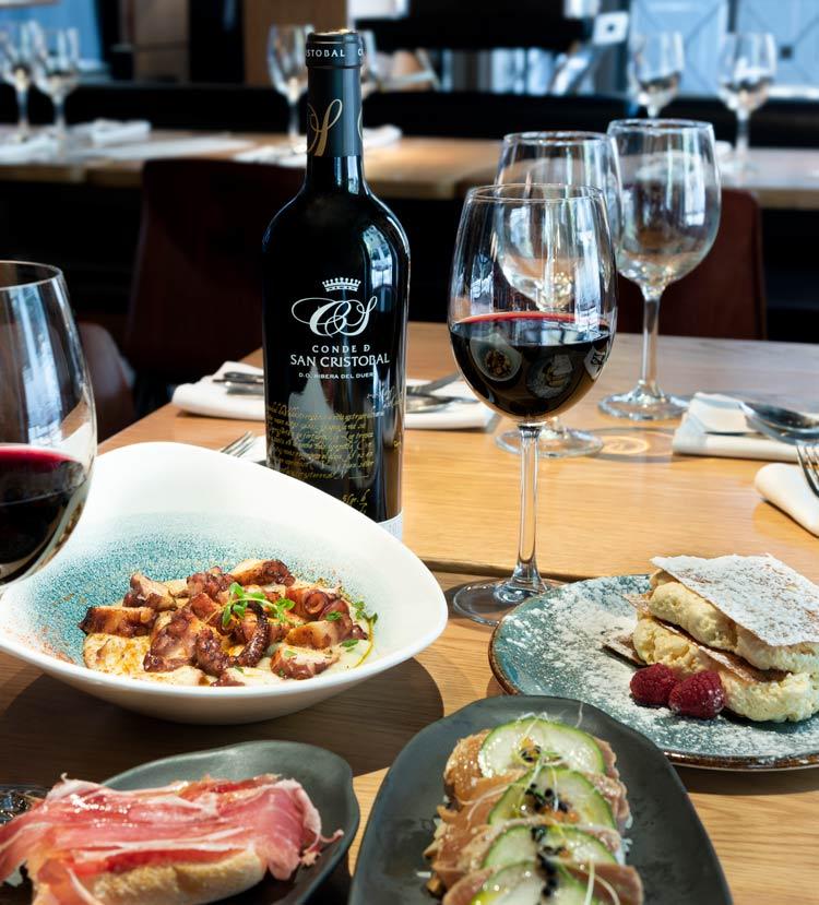Menú conde de San Cristóbal diurno vino platos - Un menú de altura y personalidad para diciembre, en Diurno