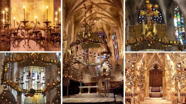 montaje Gaudi La Seu - La huella y el ingenio de Gaudí en la Catedral de La Seu de Palma