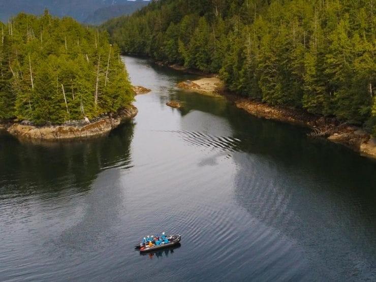 columbia britanica bote bosque - Seabourn,  mejora su programa de experiencias Ventures By Seabourn