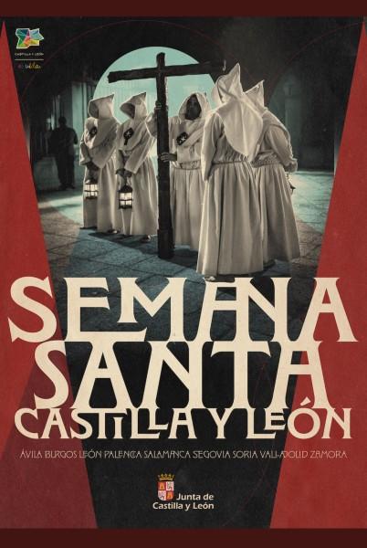 Exposición Semana Santa Castilla y León cartel - Fervor, Silencio, Arte y Solemnidad en la Semana Santa en Castilla y León