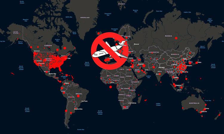 Mapa coronavirus prohibición vuelos - ¿Qué pasará después del estado de emergencia sanitaria?