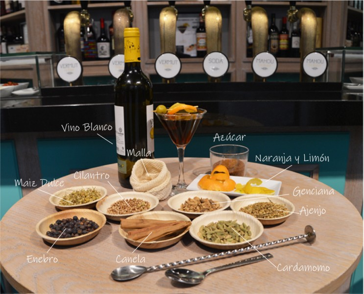 azucar vino blanco naranja Vermut Casero Ingredientes - Disfruta de la hora del Vermut sin salir de casa