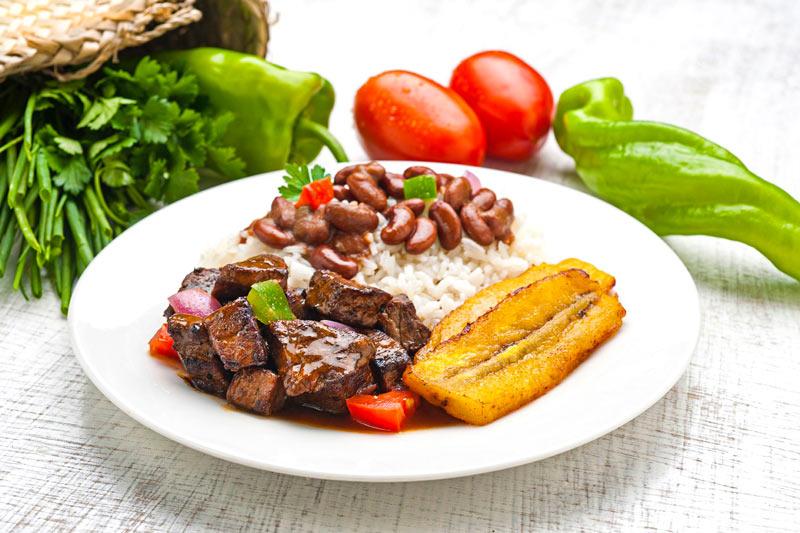 La Bandera plato comida República Dominicana - Viaja a República Dominicana con el paladar... desde casa