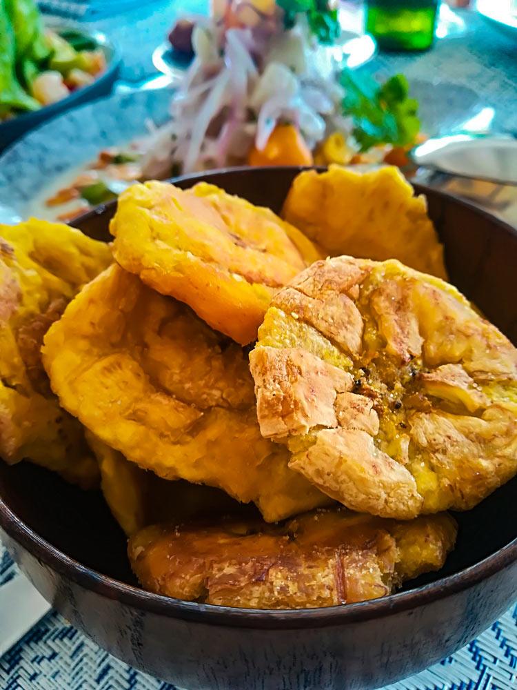 Tostones plato plátano macho República Dominicana - Viaja a República Dominicana con el paladar... desde casa