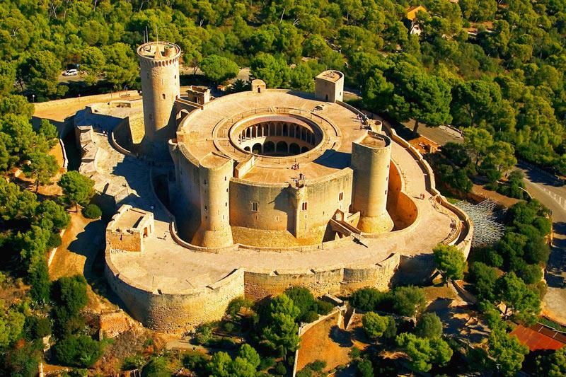 FOTO AÉREA CASTELL DE BELLVER Palma de Mallorca Islas Baleares - 5 curiosidades del Castillo de Bellver de Palma que lo hacen único en el mundo