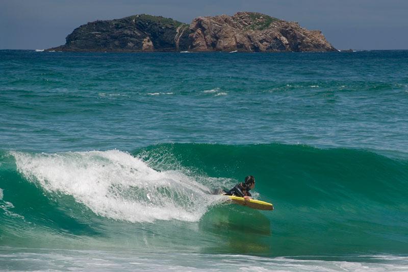 Boby Board en Playa Doñinos Ferrol Galicia España © Ovidio Aldegunde Alvarez - Recorrido playero para este verano, en Ferrol
