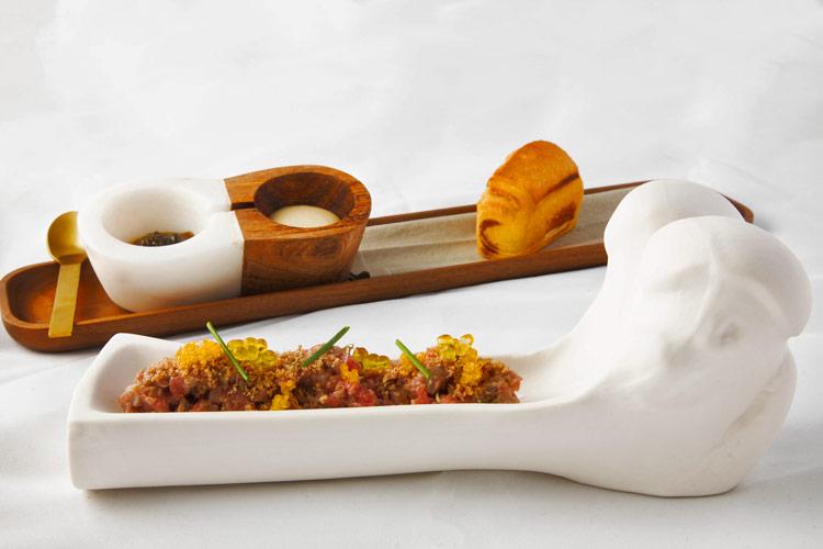 Steak tartar de solomillo IGP Ternera de Asturias Restaurante Éleonore - Éleonore, la propuesta gastronómica a los pies del mar Cantábrico