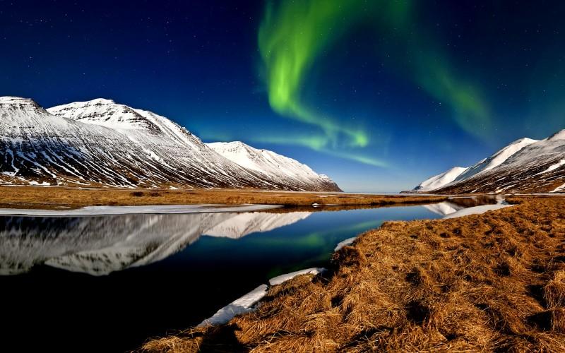 Auroras boreales en Héðinsfjörður Norte de Islandia - Norte de Islandia,  8 planes de energía, magia y tranquilidad