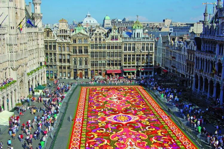 Bruselas Alfombra de flores - Bélgica: Bruselas; La capital del chocolate